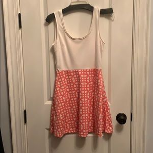 Mini pink & white sundress with scoop back